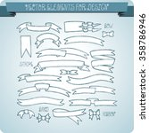 vector elements for design.... | Shutterstock .eps vector #358786946