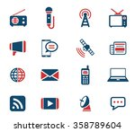 media simply icons for web | Shutterstock .eps vector #358789604