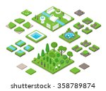 Landscaping Isometric 3d Garde...