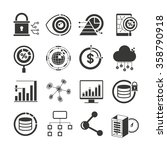 data analytics icons  data... | Shutterstock .eps vector #358790918