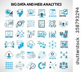 big data icons  web analytics... | Shutterstock .eps vector #358793294