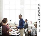 business team working office... | Shutterstock . vector #358802918