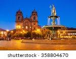 plaza de armas in cusco at... | Shutterstock . vector #358804670