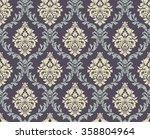 vector seamless damask pattern. ... | Shutterstock .eps vector #358804964