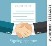 handshake of business people on ... | Shutterstock .eps vector #358812116