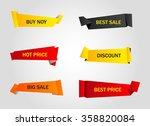 vector stickers  price tag ... | Shutterstock .eps vector #358820084