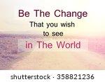 inspirational typographic quote ... | Shutterstock . vector #358821236