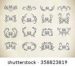 floral  vector ornament.... | Shutterstock .eps vector #358823819