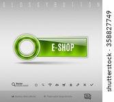 green modern plastic button... | Shutterstock .eps vector #358827749