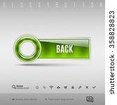 green modern plastic button... | Shutterstock .eps vector #358828823