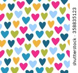 drawn multicolor heart... | Shutterstock .eps vector #358835123