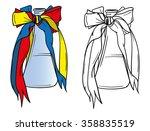 vector   bottle of wine with...   Shutterstock .eps vector #358835519