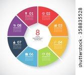 infographic circle banner.... | Shutterstock .eps vector #358835528