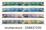 diesel railcar train   | Shutterstock .eps vector #358837250