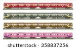 diesel railcar train   | Shutterstock .eps vector #358837256