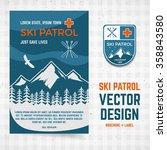 ski patrol vector brochure and... | Shutterstock .eps vector #358843580