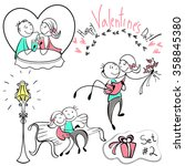 set of vector images of couples ... | Shutterstock .eps vector #358845380