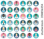 medical staff   people icons  | Shutterstock .eps vector #358856354