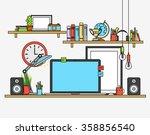line flat design mock up of... | Shutterstock .eps vector #358856540