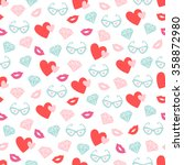 valentine seamless pattern with ... | Shutterstock .eps vector #358872980