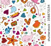 valentines day seamless pattern ... | Shutterstock .eps vector #358873154