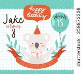 design of birthday party... | Shutterstock .eps vector #358873238