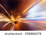 blurred urban look of the car... | Shutterstock . vector #358886078