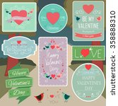 valentines day decorations...   Shutterstock .eps vector #358888310