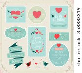 valentines day decorations...   Shutterstock .eps vector #358888319