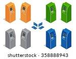 atm machines   cash machine.... | Shutterstock .eps vector #358888943