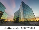 modern office building in the... | Shutterstock . vector #358893044