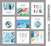 set of artistic creative... | Shutterstock .eps vector #358894604
