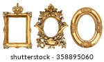 baroque golden picture frame... | Shutterstock . vector #358895060