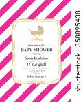 baby girl shower invitation... | Shutterstock .eps vector #358895438