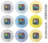 rectangular eyeshadow palettes... | Shutterstock .eps vector #358896980
