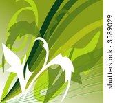 green pattern    vector   | Shutterstock .eps vector #3589029