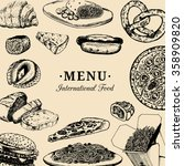 vector international food menu. ... | Shutterstock .eps vector #358909820