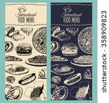 vector international food menu. ... | Shutterstock .eps vector #358909823
