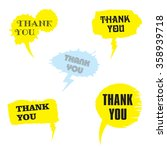 vector set of comic speech... | Shutterstock .eps vector #358939718