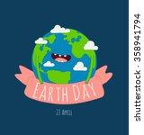 happy earth day poster. vector... | Shutterstock .eps vector #358941794
