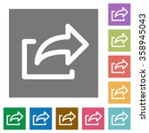export flat icon set on color...