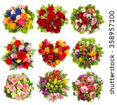 flowers bouquet for holidays... | Shutterstock . vector #358957100