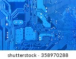 close up of a printed blue...   Shutterstock . vector #358970288