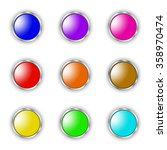 vector image   set round button | Shutterstock .eps vector #358970474