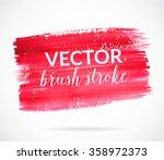 red paint stroke  artistic dry... | Shutterstock .eps vector #358972373