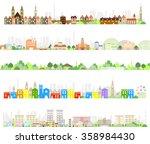 vector city illustration | Shutterstock .eps vector #358984430