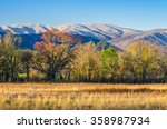a late spring snow caps the... | Shutterstock . vector #358987934