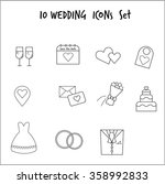 wedding vector icon sets. love  ... | Shutterstock .eps vector #358992833