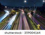 Commuters In Freeway Traffic A...