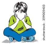 Little Boy Thinking Illustration